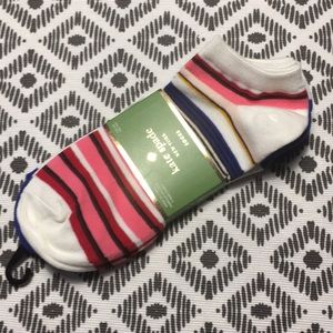 Kate Spade striped no show/ankle socks - 3 pk NWT